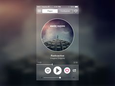Music radio player UI
