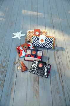 Yacht Collection Wallets SS 2014 Love the embellishments on these wallets  We have all the colors at Wild Goose in Perham,MN