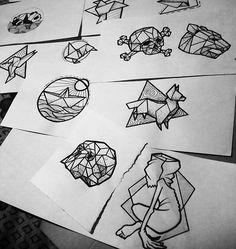 Geometric tattoo / sketches