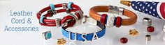 Get Patriotic with our Leather cord and Components.
