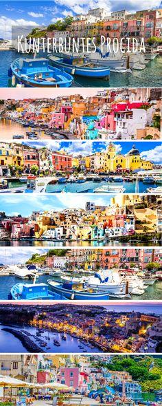 Die kunterbunte Insel Procida im Golf von Neapel sieht aus, wie aus Zuckerwatte! Diese Insel in Italien gehört auf jeden Fall auf eure Bucketlist!