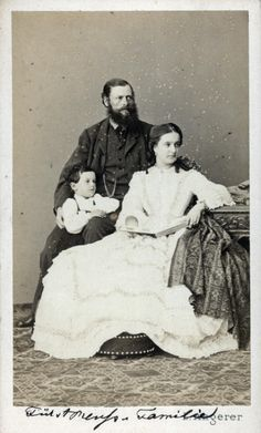 Duchess Agnes of Württemberg  (13 October 1835 – 10 July 1886), with her husband  Heinrich XIV, Prince Reuss Younger Line and their son Heinrich