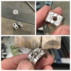 Getting there with the layout... #platinum #wip #handmade #diamond #diamondring #progresspic #canberra #custommade #jewellery #workshop