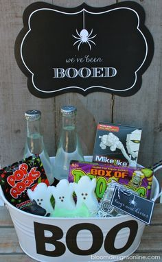 Boo Sign. WOULD BE CUTE TO MAIL A PKG TO THE KIDS THAT SAYS THAT