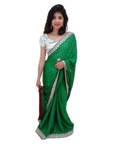 Sari Bollywood Shreya Vert