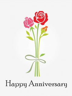 Red Rose Happy Anniversary Card: Happy Anniversary! Let's send him this rose anniversary card to express your love because the red rose symbolizes love. On this special day, deepen your love and relationship by showing how much you care.