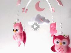 Little owl crib mobile hanmade by Gracinhas Artesanato