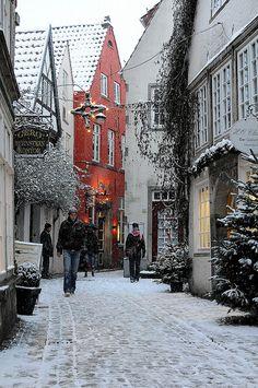 Schnoor Viertel in #Bremen, #Deutschland #Germany - Wundervolles Nordlicht unter den deutschen Städten