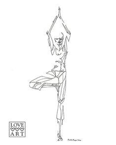 Yoga art print Tree by LoveHeartsArt on Etsy, $20.00