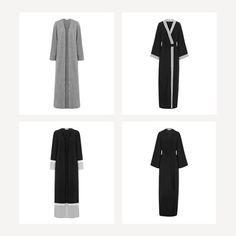 INAYAH | Maintain minimal aesthetic with monochrome style. Grey Tweed Effect Kimono Black Wrap Front Kimono With Contrast Black Colour Block Kimono With Lace Black Belted Wrap Kimono www.inayah.co