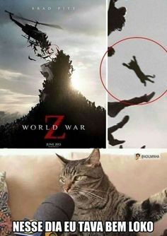 World War Z That Day I Was Fucking Crazy - Funny Memes. The Funniest Memes worldwide for Birthdays, School, Cats, and Dank Memes - Meme Really Funny Memes, Stupid Funny Memes, Funny Relatable Memes, Lmfao Funny, Funny Stuff, Memes Humor, Cat Memes, Humor Humour, Golf Humor