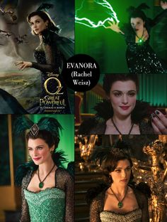 Rachel Weisz as Evanora in Oz, The Great & Powerful Witch Board, Rachel Weisz, Novels, Costumes, Halloween, Html, Movie Posters, Costume Design, Witches