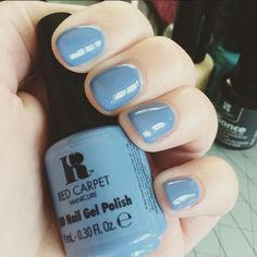 """Kiss this week bye bye its basically the Featuring our gel shade """"Baby blues"""". Nail Polish Kits, Best Gel Nail Polish, Gel Polish Colors, Nail Colors, Red Carpet Manicure, Red Manicure, Gel Nails, Blue Gel, Blues"""