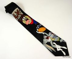 Looney Tunes Basketball Necktie | The Tie Chest Bugs Bunny Cartoons, Cool Ties, Dress For Success, Looney Tunes, Basketball, Mens Fashion, Nerd Stuff, Black, Style