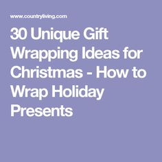 30 Unique Gift Wrapping Ideas for Christmas - How to Wrap Holiday Presents Creative Christmas Gifts, Christmas Gift Wrapping, Mini Christmas Tree, All Things Christmas, Present Wrapping, Wrapping Ideas, Opening Christmas Presents, Merry Xmas, Holiday Fun