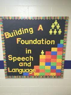 Lego Bulletin Board Speech Therapy