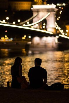 A couple enjoying a hot night in Budapest, Hungary, by Aaron_S.