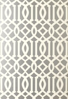 Imperial Trellis Wallcovering in Silver, 5003362.  http://www.fschumacher.com/search/ProductDetail.aspx?sku=5003362