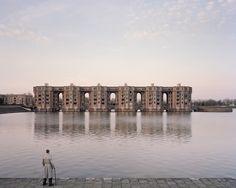 Les Arcades du Lac by Ricardo Bofill, Saint-Quentin-En-Yvelines, France, 1982. (Photo: Laurent Kronental/ Courtesy The Tale of Tomorrow © Gestalten 2016)