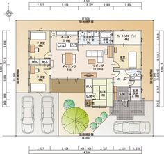 1F間取 もっと見る Modern Japanese Interior, Japanese Home Design, Japanese House, Craftsman Floor Plans, House Floor Plans, House Layout Plans, House Layouts, Japan House Design, Small Villa