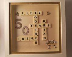 Golden/Silver/Diamond/Ruby Anniversary celebration lightbox keepsake/frame