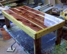 Beau Cedar Coffee Table... Would Be Nice On Porch.