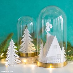 How adorable is this 3D paper cabin?! A must-craft decoration to channel a little winter woodland charm this holiday season...