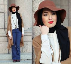Tips and Ideas on How to Wear Hijab with Hat | My Hijab