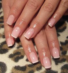 manicure -                                                      This is the kind of french mani I like. I hate the thick white tacky line. A thin, clean line always looks better