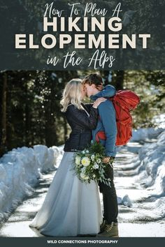 A comprehensive guide on how to plan a hiking elopement in the Alps, including the top destinations, when to go and what to consider when planning your elopement. Best Wedding Planner, Wedding Planning, Plan A, How To Plan, Go Hiking, Top Destinations, Elopement Inspiration, Day Hike, Famous Celebrities