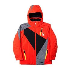 Spyder Boys Enforcer Jacket 18 VolcanoBlackPolar Wool Print *** To view further for this item, visit the image link.(This is an Amazon affiliate link and I receive a commission for the sales)