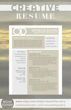 creative resume template the ophelia - Word Template Resume