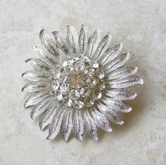 Sunflower Brooch Jewelry Component Embellishment by CacheAvenue, $28.00