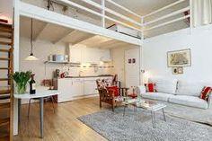 tiny studio apartment with mezzanine floor - Google Search