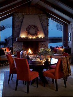 Slettvoll, Norway, X-mas 2014 Mountain Cottage, Cabins And Cottages, Cottage Interiors, Cozy Cabin, House In The Woods, Outdoor Rooms, Rustic Design, Log Homes, Hygge