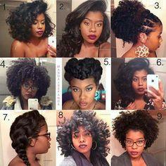 Versatile natural hair styles