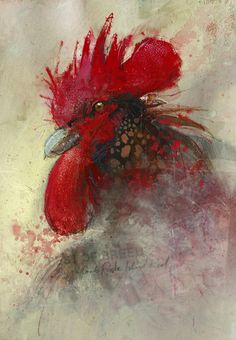 Rhode Island Red, John Lovett,  Gouache, Acrylic, Ink, Watercolor and Charcoal