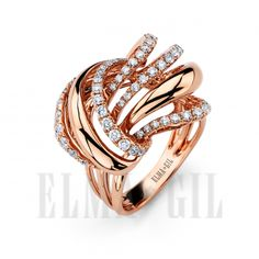 Diamond intensive 18K rose gold fashion ring available at Kleinhenz Jewelers. 440.892.1020