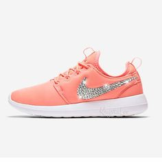 67e74f38f29830 Custom Bling Womens Nike Roshe Two Atomic Pink Swarovski Crystal Bling  Sneakers