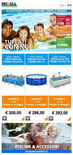 """Tuffati con noi - Ercole Tempo libero www.ercoletempoli... www.facebook.com/... ERCOLE SU FB mettete """"mi piace"""" sulla pagina Ercole di facebook #mipiace #camping #pleinair #facebook #piscine #casa #home #offerte #piscina #mini #kids #bambini #estate #relax #gioco #giocare #spiaggia #prima #infanzia #famiglia #divertimento #fun #estateunica  http://ercoletempolibero.it/themes/theme130/_nl/21062013/ercole_piscine2.html"""