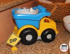 Dump Truck Dip Holder for Kid's Construction Party.../v