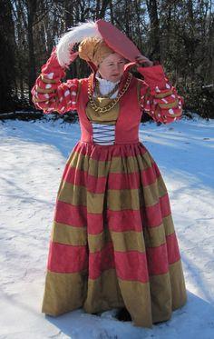 16th Century Cranach Princess Dress | 16th Century German Costuming