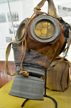 looks like a gas mask inspired face mask. I especially like the unique lenses and the aging on the leather Halloween Songs, Halloween Masks, Halloween Ideas, Impact Event, Wasteland Weekend, Metal Containers, Vintage Medical, Post Apocalypse, Diy Mask