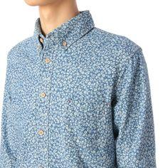 シャツ(ウッドボタン使い小花柄デニムシャツ) | TK(TK) | ファッション通販 マルイウェブチャネル