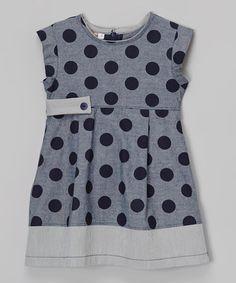 Love this Navy Polka Dot Dress - Toddler & Girls by Anna Bouche on #zulily! #zulilyfinds