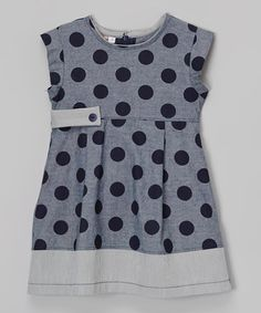 Love this Navy Polka Dot Dress - Toddler & Girls by Anna Bouche on #zulily! #zulilyfinds