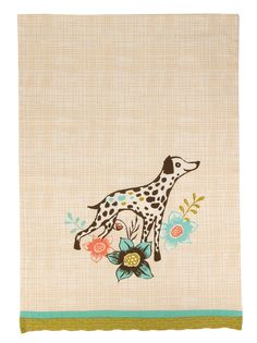 Dalmatian Dog Kitchen Towel