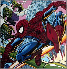 Spider Man vs Lizard Man unique  48 X 48
