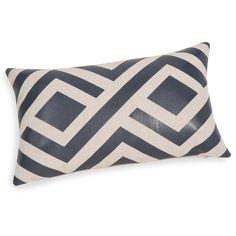 Fodera di cuscino blu/beige 30 x 50 ...