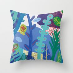 Secret garden IV Throw Pillow by Milanesa - $20.00